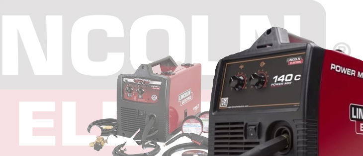 Red and black LIncoln 140HD and 140C mig welders for reviews