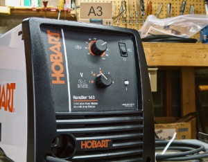 Photo of Hobart Handler 140 MIG welder can weld aluminum without a spool gun.