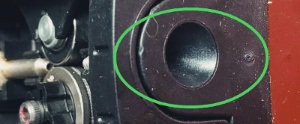 Photo showing a smooth wire guide for welding aluminum without spoolgun.