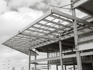 Welded steel structure.