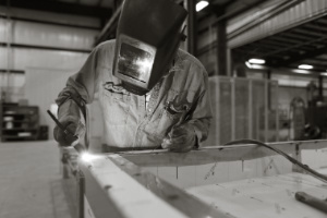 Become a welding in a fabrication shop.