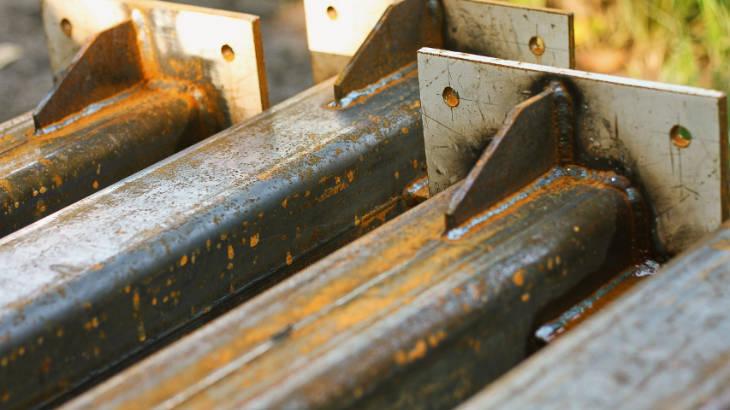 Scrap metal for welding.