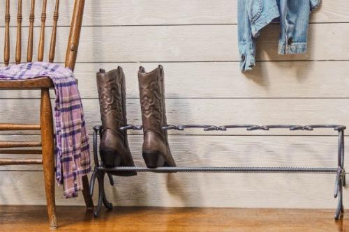 Boot rack horseshoe welding project.