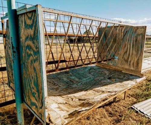 Welded rebar hay feeder project