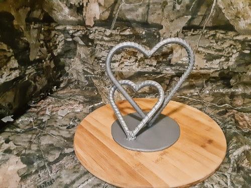 welded rebar hearts project