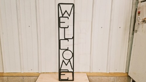 rebar sign welding project