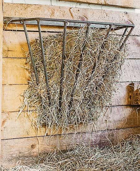 rebar wall mount hay feeder