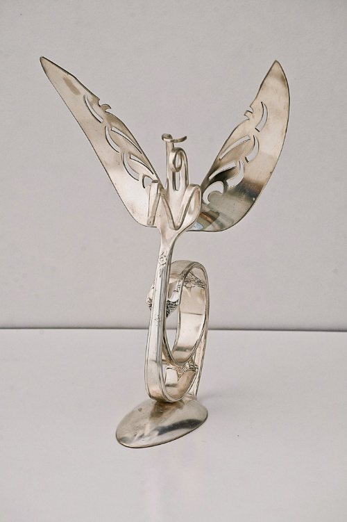 Angel Welded from Silverware
