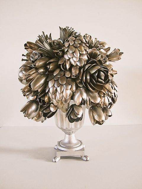 Welded Bouquet Of Silverware