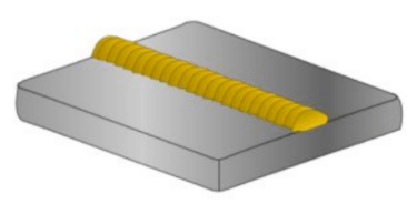 Diagram showing example of a basic weld bead