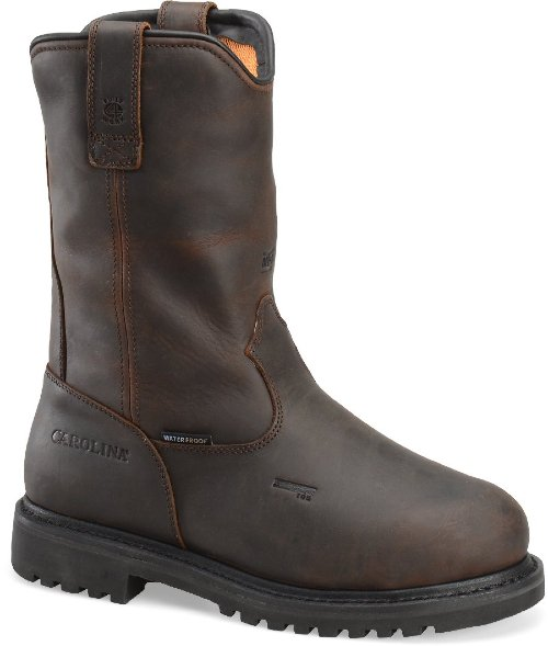 Side view of the Line Builder INT No. CA8533 welding boot from Carolina Shoe.